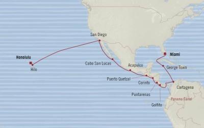 SINGLE Cruise - Balconies-Suites Oceania Insignia January 6-28 2020 CRUISE Miami, FL, United States to Honolulu, HI, United States