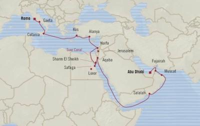 SINGLE Cruise - Balconies-Suites Oceania Insignia May 2-23 2020 CRUISE Abu Dhabi, United Arab Emirates to Civitavecchia, Italy