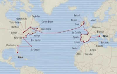 Singles Cruise - Balconies-Suites Oceania Insignia May 23 July 6 2020 Cruises Civitavecchia, Italy to Miami, FL, United States