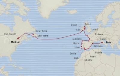 SINGLE Cruise - Balconies-Suites Oceania Insignia May 23 June 20 2020 CRUISE Civitavecchia, Italy to Montreal, Canada