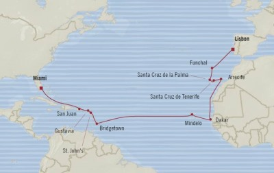 Deluxe Honeymoon Cruises Oceania Marina April 10 May 1 2021 Miami, FL, United States to Lisbon, Portugal