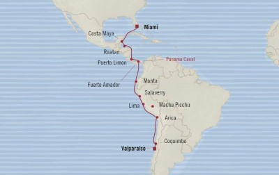 SINGLE Cruise - Balconies-Suites Oceania Marina January 5-22 2020 CRUISE Valparaíso, Chile to Miami, FL, United States