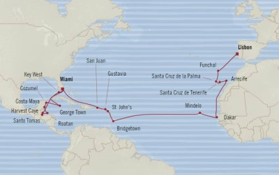 Singles Cruise - Balconies-Suites Oceania Marina March 31 May 1 2020 Cruises Miami, FL, United States to Lisbon, Portugal