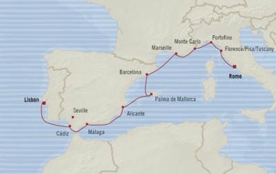Deluxe Honeymoon Cruises Oceania Marina May 1-11 2021 Lisbon, Portugal to Civitavecchia, Italy