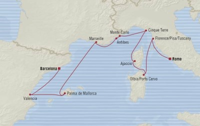 Singles Cruise - Balconies-Suites Oceania Marina May 11-21 2020 Cruises Civitavecchia, Italy to Barcelona, Spain