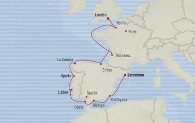 Singles Cruise - Balconies-Suites Oceania Marina May 21 June 2 2020 Cruises Barcelona, Spain to Southampton, United Kingdom