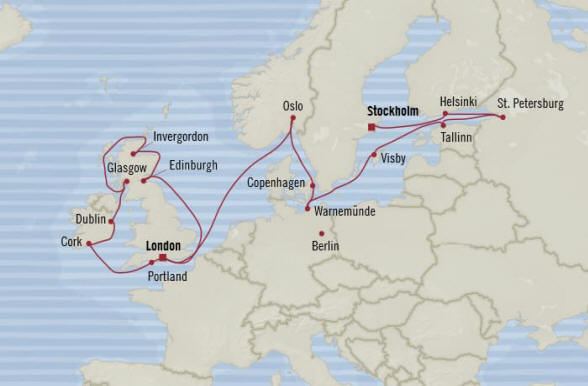 7 Seas Luxury Cruises Oceania  Marina 2022