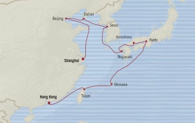 Singles Cruise - Balconies-Suites Oceania Nautica February 20 March 7 2020 Cruises Hong Kong, China to Shanghai, China
