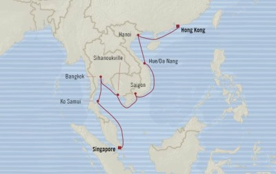 Oceania Nautica February 4-20 2017 Cruises Singapore, Singapore to Hong Kong, China