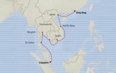 World CRUISE SHIP BIDS - Oceania Nautica February 4-20 2022 CRUISE SHIP Singapore, Singapore to Hong Kong, China