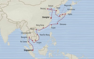 Singles Cruise - Balconies-Suites Oceania Nautica February 4 March 7 2020 Cruises Singapore, Singapore to Shanghai, China