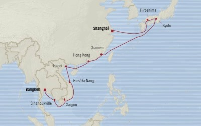Oceania Nautica March 7-27 2017 Cruises Shanghai, China to Laem Chabang, Thailand
