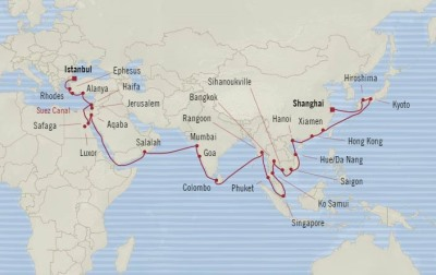 SINGLE Cruise - Balconies-Suites Oceania Nautica March 7 May 4 2020 CRUISE Shanghai, China to Istanbul, Turkey