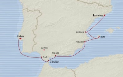 LUXURY CRUISE - Balconies-Suites Oceania Nautica May 16-24 2020 Cruises Barcelona, Spain to Lisbon, Portugal