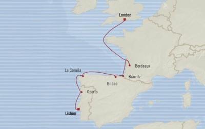 SINGLE Cruise - Balconies-Suites Oceania Nautica May 24 June 1 2020 CRUISE Lisbon, Portugal to Southampton, United Kingdom