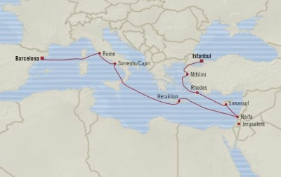 LUXURY CRUISE - Balconies-Suites Oceania Nautica May 4-16 2020 Cruises Istanbul, Turkey to Barcelona, Spain