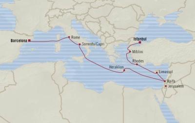 SINGLE Cruise - Balconies-Suites Oceania Nautica May 4-16 2020 CRUISE Istanbul, Turkey to Barcelona, Spain