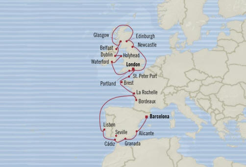 7 Seas Luxury Cruises Oceania Nautica  schedule 2022.
