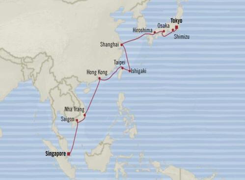 7 Seas Luxury Cruises Oceania Nautica  schedule 2023