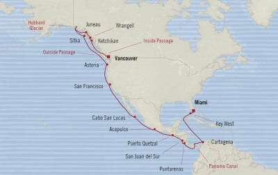 Oceania Regatta April 24 May 20 2017 Cruises Miami, FL, United States to Vancouver, Canada