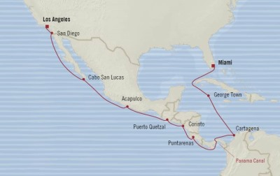 Oceania Regatta January 17 February 2 2017 Cruises Los Angeles, CA, United States to Miami, FL, United States