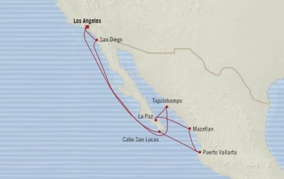 Singles Cruise - Balconies-Suites Oceania Regatta January 7-17 2020 Cruises Los Angeles, CA, United States to Los Angeles, CA, United States