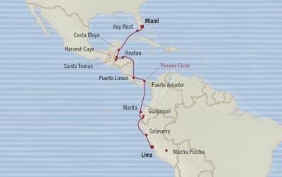 Luxury World Cruise SHIP BIDS - Oceania Regatta March 29 April 14 2022 CRUISE SHIP Callao, Peru to Miami, FL, United States