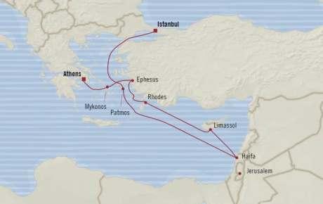 Singles Cruise - Balconies-Suites Oceania Riviera April 19-29 2020 Cruises Istanbul, Turkey to Piraeus, Greece