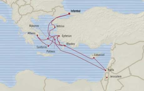 SINGLE Cruise - Balconies-Suites Oceania Riviera April 19 May 6 2020 CRUISE Istanbul, Turkey to Istanbul, Turkey