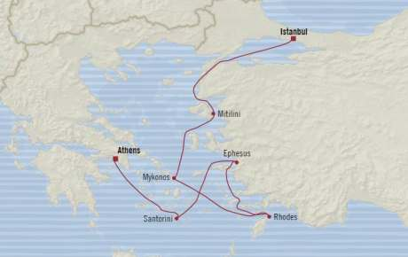 Singles Cruise - Balconies-Suites Oceania Riviera April 29 May 6 2020 Cruises Piraeus, Greece to Istanbul, Turkey