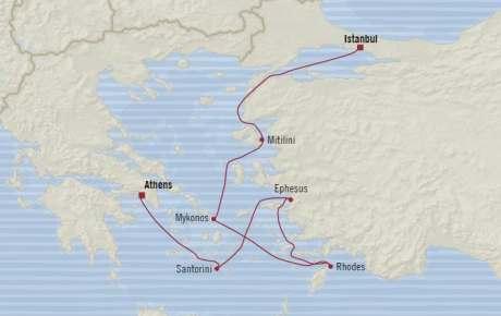 Singles Cruise - Balconies-Suites Oceania Riviera April 29 May 6 2020 Cruises Piraeus, Greece to Istanbul, Turkey