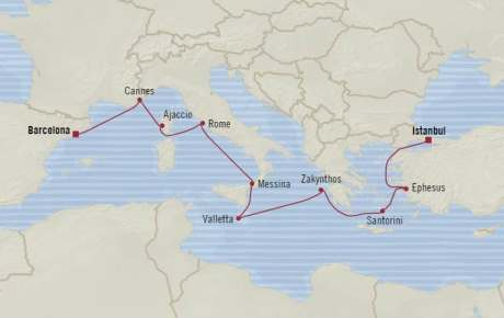 LUXURY CRUISE - Balconies-Suites Oceania Riviera April 9-19 2020 Cruises Barcelona, Spain to Istanbul, Turkey