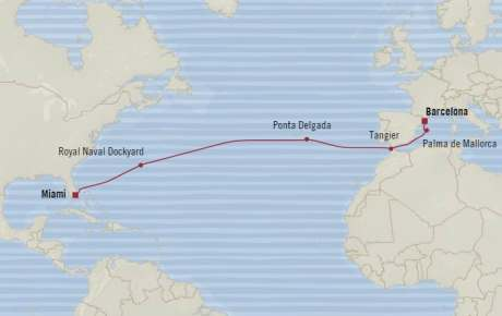 HONEYMOON Oceania Riviera March 26 April 9 2021 Miami, FL, United States to Barcelona, Spain