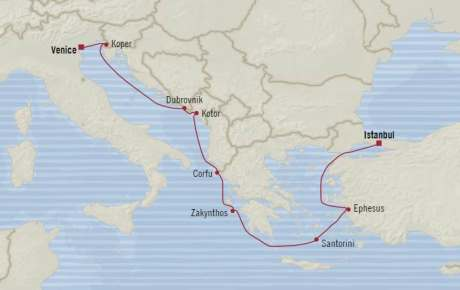 Singles Cruise - Balconies-Suites Oceania Riviera May 6-16 2020 Cruises Istanbul, Turkey to Venice, Italy