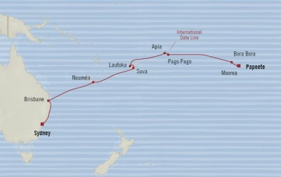 Oceania Sirena February 16 March 6 2017 Cruises Papeete, French Polynesia to Sydney, Australia