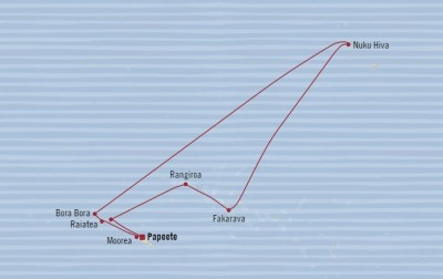 Singles Cruise - Balconies-Suites Oceania Sirena February 4-16 2020 Cruises Papeete, French Polynesia to Papeete, French Polynesia