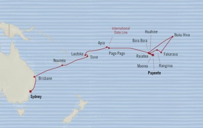 SINGLE Cruise - Balconies-Suites Oceania Sirena February 4 March 6 2020 CRUISE Papeete, French Polynesia to Sydney, Australia