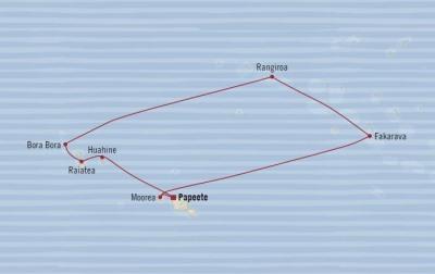 HONEYMOON Oceania Sirena January 25 February 4 2021 Papeete, French Polynesia to Papeete, French Polynesia