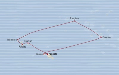 Singles Cruise - Balconies-Suites Oceania Sirena January 25 February 4 2020 Cruises Papeete, French Polynesia to Papeete, French Polynesia