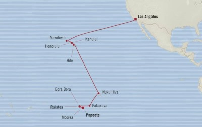 Oceania Sirena January 4-25 2017 Cruises Los Angeles, CA, United States to Papeete, French Polynesia