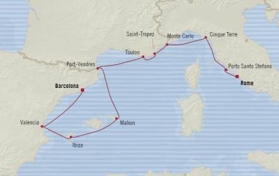 Singles Cruise - Balconies-Suites Oceania Sirena July 7-17 2020 Cruises Civitavecchia, Italy to Barcelona, Spain