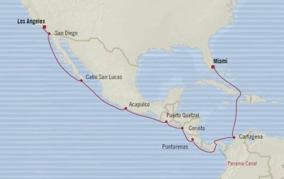 SINGLE Cruise - Balconies-Suites Oceania Sirena June 6-21 2020 CRUISE Los Angeles, CA, United States to Miami, FL, United States