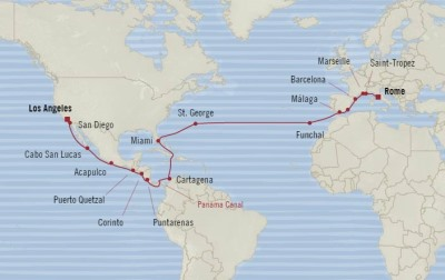 SINGLE Cruise - Balconies-Suites Oceania Sirena June 6 July 7 2020 CRUISE Los Angeles, CA, United States to Civitavecchia, Italy