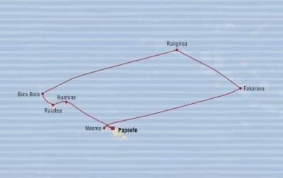 Singles Cruise - Balconies-Suites Oceania Sirena May 9-19 2020 Cruises Papeete, French Polynesia to Papeete, French Polynesia