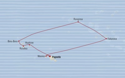 HONEYMOON Oceania Sirena May 9-19 2021 Papeete, French Polynesia to Papeete, French Polynesia