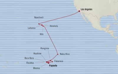 Singles Cruise - Balconies-Suites Oceania Sirena May 9 June 6 2020 Cruises Papeete, French Polynesia to Los Angeles, CA, United States