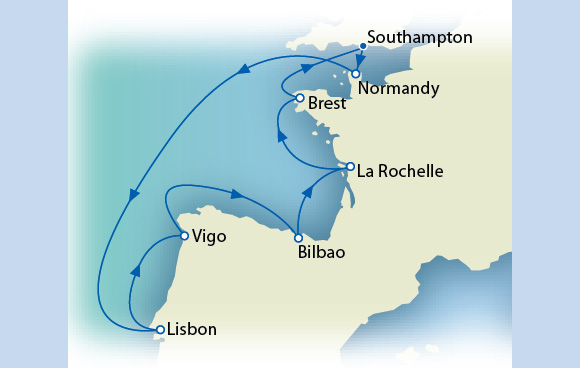 Luxury Itinerary Map