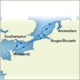 Luxury Map - Southampton to Southampton