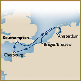 CRUISE Cunard Queen Elizabeth Map Cunard QE Cruise QE 2020