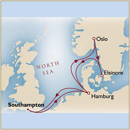 Map Cunard Queens Grill Mary 2 Qm 2 2025 Southampton to Southampton
